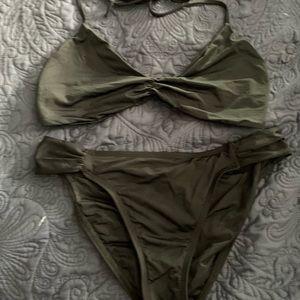 LSpace black ruched bikini